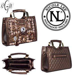 😎Stunning Nicole Lee Darva Mini Briefcase